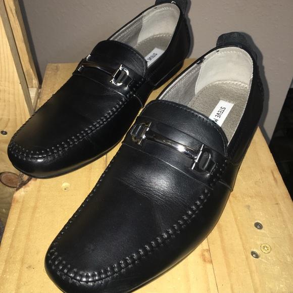 steve madden black formal shoes